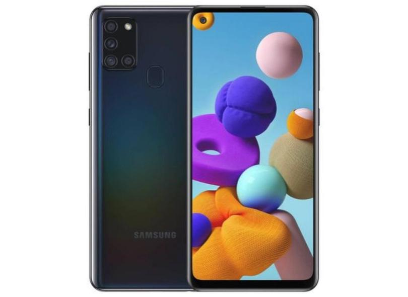 Smartphone Samsung Galaxy A21s SM-A217F/DSN 3GB RAM 32GB Câmera Quádrupla 2 Chips Android 10