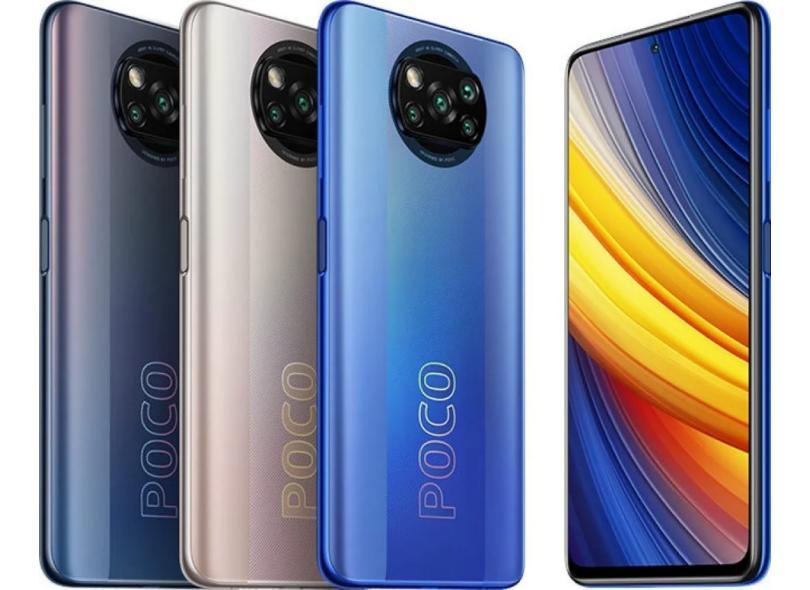 Smartphone Xiaomi Pocophone Poco X3 Pro 6GB RAM 6 GB 128GB Câmera Quádrupla 2 Chips Android 11
