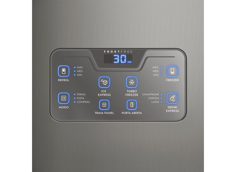 Geladeira Electrolux Bottom Freezer Frost Free Inverse 454 Litros Inox DB53X