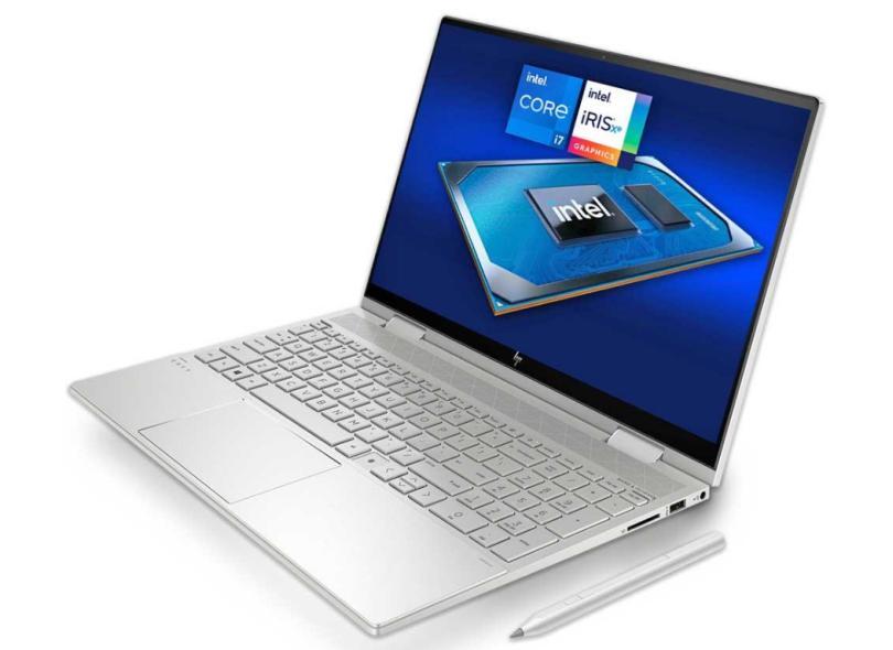"Ultrabook Conversível HP Envy Intel Core i7 1165G7 11ª Geração 16 GB de RAM 512.0 GB 15 "" Full Touchscreen Windows 10 x360"