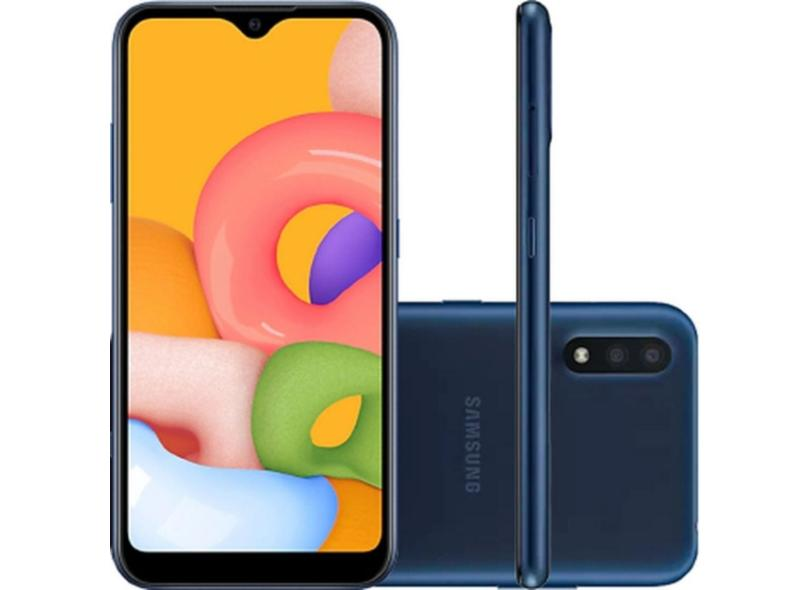 Smartphone Samsung Galaxy A01 SM-A015M 32GB Câmera Dupla Qualcomm Snapdragon 439 Android 10