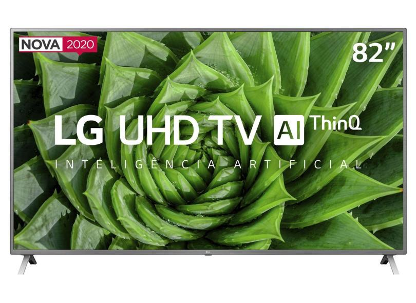 "Smart TV TV LED 82"" LG ThinQ AI 4K HDR 82UN8000PSB 4 HDMI"