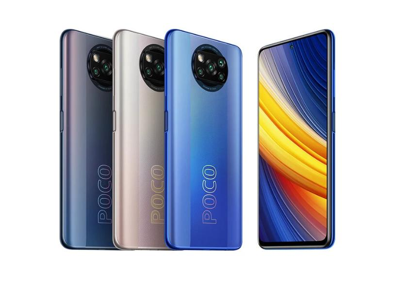 Smartphone Xiaomi Pocophone Poco X3 Pro 8GB RAM 256GB Câmera Quádrupla 2 Chips Android 11