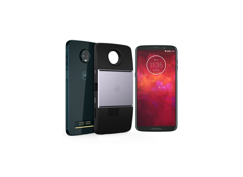 Smartphone Motorola Moto Z3 Play Projector Edition 64GB 12 MP 2 Chips Android 8.1 (Oreo)