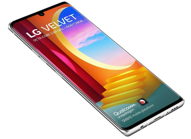 Smartphone LG Velvet LMG910EMW 128GB Câmera Tripla Android 10