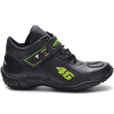 Imagem de Bota Motociclista Atron Shoes 401 Cano Baixo  -  e Verde