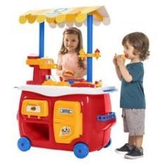 Imagem de Cozinha Infantil Lanchonete Completa C/Forno e Geladeira Brincadeiras Divertidas