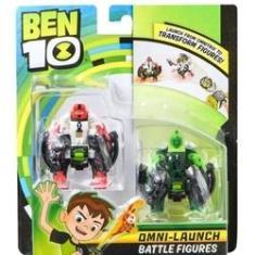 Imagem de Ben 10 - Pack com 2 Figuras Para Omnitrix Lançador - CIPO SELVAGEM4 BRAÇOS