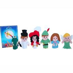 Imagem de Dedoches De Feltro - Peter Pan - 6 Personagens - Multicolorido - 100% Artesanal