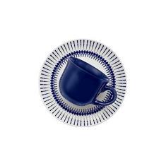 Imagem de Conjunto com 6 Xícaras de Cafezinho Biona Colb BrancoAzul