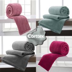 Imagem de Cobertor Microfibra Casal King Manta Coberta Corttex Home Design Antialérgico Super Macio 2,20x2,40
