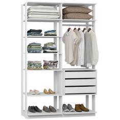 Imagem de Guarda-Roupa Closet 3 Gavetas 9008 Clothes Be Mobiliário