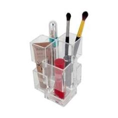 Imagem de Organizador Porta Maquiagem Cotonete Acrílico - 04 Divisões