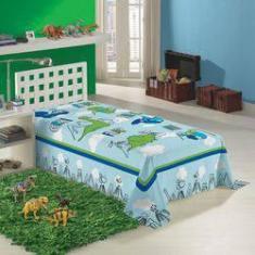 Imagem de Cobertor Solteiro Manta Fleece Microfibra Infantil Dinossauro Dino Original Lepper