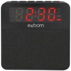 Imagem de Rádio Relógio Digital com Caixa de Som Bluetooth  Exbom CS-MT3BT