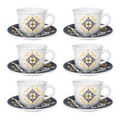 Imagem de Conjunto Xícara de Chá com Pires 6 Peças São Luís Oxford