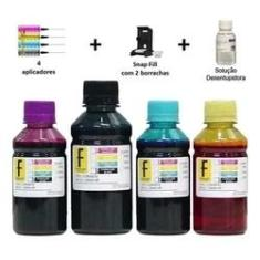 Kit Tinta Formulabs + Snap Recarga Cartuchos 667 Impressoras Deskjet 2376, 2776, 6476 da HP