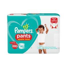 Fralda de Vestir Pampers Pants Ajuste Total Tamanho XXG Hiper 42 Unidades Peso Indicado 14 - 25kg