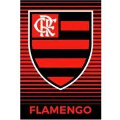 Imagem de Toalha de Time Buettner Veludo Estampado Brasão Flamengo