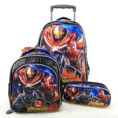 Imagem de Mochila com Rodinhas Escolar Xeryus Avengers Armored 7490