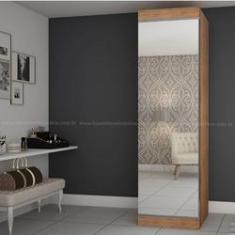 Imagem de Sapateira Multiuso com Espelho Gelius Esmeralda - Amadeirada