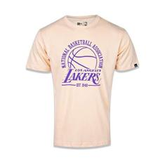 Imagem de CAMISETA MANGA CURTA NBA LOS ANGELES LAKERS COLLEGE GAME BALL LARANJA LARANJA CLARO New Era
