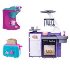 Imagem de Cozinha Infantil C/ Geladeira Fogão Pia Torradeira Cafeteira
