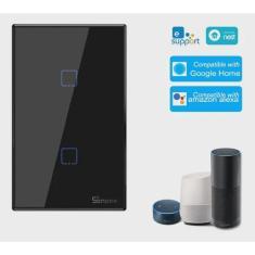 Imagem de Sonoff T3us2c-tx 2 Gang Smart Light Switch