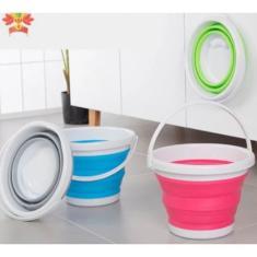 Imagem de Balde Retrátil De Silicone Dobrável Plástico Flexível 10 Litros
