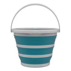 Imagem de Balde Para Limpeza Retrátil 10 Litros Flash Limp Verde Água