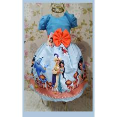 Imagem de Vestido Infantil tema Princesa Jasminie / Aladin