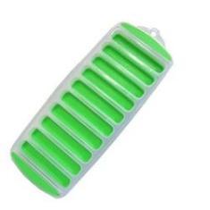 Imagem de Forma de Gelo com 10 Cavidades Retangular de Silicone e Plástico Colors 29 x 11,5 cm