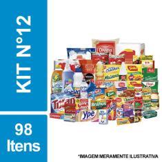 Imagem de Cesta Básica De Alimentos, Higiene E Limpeza C/ 98 Itens