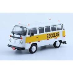 Imagem de Miniatura Carros Veículos de Serviço do Brasil Edição 01 Volkswagen Kombi Escolar