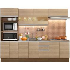 Imagem de Cozinha Completa 3 Gavetas 10 Portas sem Tampo Atenas Madesa