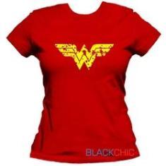 Imagem de Camiseta Feminina Mulher Maravilha Baby Look