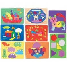 Imagem de Jogo Com 8 Quebra Cabeça De Eva Desenvolve E Educa Infantil