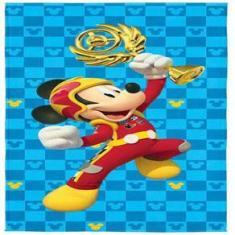 Imagem de Toalha Infantil Aveludada Transfer Estampa Mickey Aventura Sobre Rodas - Lepper