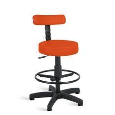 Imagem de Cadeira Mocho Alto Estética Giratória Com Sapatas fixa - Ideaflex