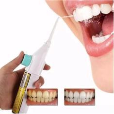 Imagem de Irrigador Oral Dental Bucal Jato Limpeza Dente Agua Portatil Fio De Agua