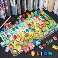 Imagem de Placa Pedagógica, Brinquedo, Alfabeto Números Geométricas