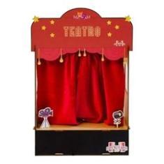 Imagem de Cenário de Teatro de Dedoches e Fantoches Sensacional (50x33x12)