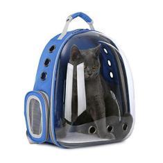 Imagem de Ufilter Mochila para gatos com bolha, mochila para cães pequenos, aprovada pelas companhias aéreas, cápsula transparente para transporte de animais de estimação, mochila para caminhada para uso ao ar livre,
