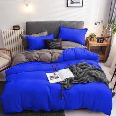 Imagem de Jogo De Cama Casal Super King 7 Peças Com Edredom Blue Grey