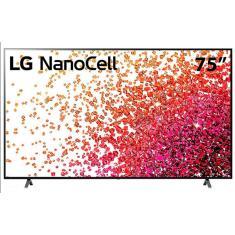 """Smart TV Nano Cristal 75"""" LG ThinQ AI 4K HDR 75NANO75SPA"""