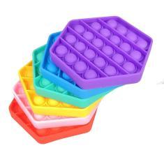Imagem de Pop It Fidget Toy Pop Bubble Fidget Sensorial Toy Hexágono