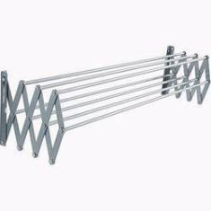 Imagem de Varal Sanfonado 40cm Em Alumínio De Parede Retrátil Alumab