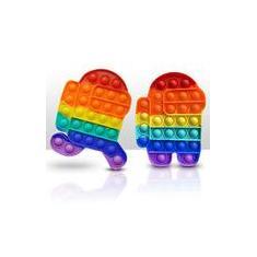 Imagem de 2Pcs Pop It Toy Sensory Toy Rainbow Among Us