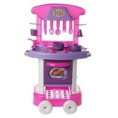 Imagem de Cozinha Infantil  Forno Fogão E Pia Brinquedos Play Time Meninas Divertida Original Acessorios