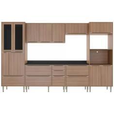 Imagem de Cozinha Completa 5 Gavetas 14 Portas Calábria 5451 com Porta de Vidro Multimóveis